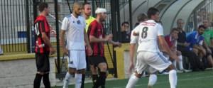 Una imagen del Atlético de Ceuta - Cabecesnse de la primera vuelta, que acabó con victoria caballa por 3-0