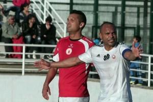 Sandro, durante el partido del pasado lunes en San Roque