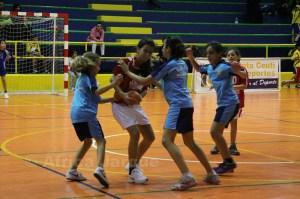 Los partidos de balonmano base se disputan en 'La Libertad'