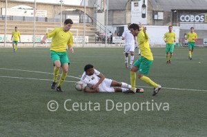 El Atlético de Ceuta es un equipo muy endeble a domicilio