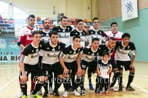 Formación de la UA Ceutí FS en el partido que le enfrentó al Manzanares en el 'Guillermo Molina'
