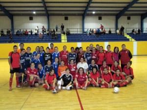 En la imagen, integrantes de los cuatro equipos que han disputado la primera jornada de Liga