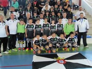 La selección alevín, antes de su debut en el Nacional ante el combinado aragonés