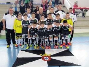 La selección alevín de Ceuta, antes del decisivo choque ante Madrid