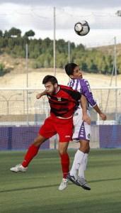 El ceutí Anuar, en un partido con el equipo juvenil del Real Valladolid