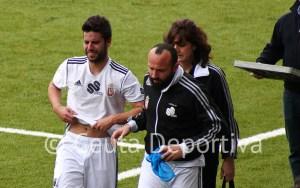 Félix se ha retirado del terreno de juego llorando, consciente de la importancia de su lesión