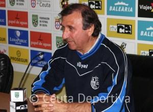 José Antonio Asián, en la sala de prensa del Murube