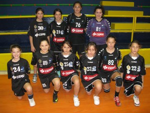 Equipo del BM. Ciudad de Algeciras alevín femenino