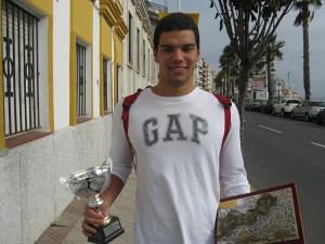 Vicente Matoso (19 años) es el único jugador ceutí que milita en la División de Honor Masculina