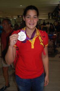 Lorena Miranda se convirtió en la primera ceutí que gana una medalla en unos Juegos Olímpicos