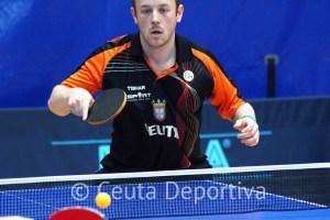 Paco Martín, uno de los integrantes del Gabitec Ceuta TM, durante un partido de esta temporada