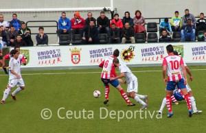 Una imagen del Atlético de Ceuta - Algeciras, que registró la mejor entrada de la temporada