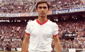 Mariano Pulido con la camiseta del Sevilla FC