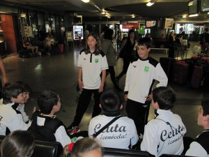 Los capitanes de las selecciones ceutíes se quedan con la experiencia vivida en el Nacional de Logroño