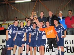 El Luis de Camoens, campeón de la Liga de fútbol 8, se proclamó subcampeón en la competición de fútbol sala