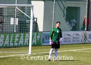 Pablo Antón, durante el partido del pasado domingo ante el San Roque