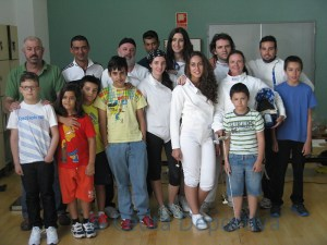 Grupo de alumnos que participaron en las tiradas fin de curso
