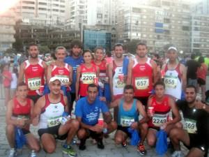 Atletas ceutíes participantes en la Carrera Popular 'Puerto de Algeciras'
