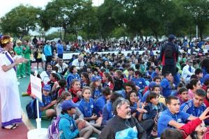Los jóvenes de las distintas ciudades han llenado el recinto del Parque Urbano Juan Carlos I