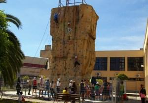 La actividad se llevó a cabo en el rocódromo de la Casa de la Juventud