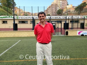 Antonio García Gaona, en el Campo Fdederativo José Benoliel