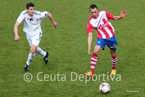 Jaime, en el partido de la segunda vuelta ante el Algeciras, del que tendría una oferta  para la próxima temporada