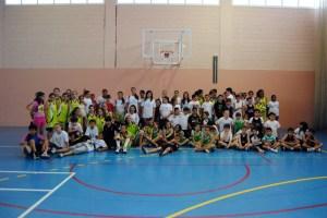 Los distintos equipos del CB San Daniel, en las instalaciones del CB San Felipe Neri