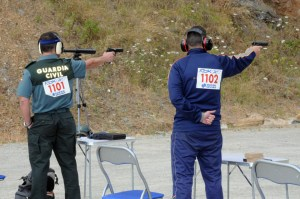 Un momento de una de las fases de la competición celebrada en el campo de tiro de Ingenieros