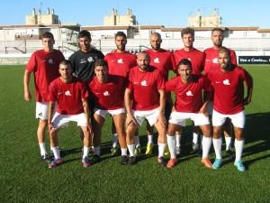 La AD Ceuta FC jugó con este 'once' en la primera parte del partidillo