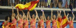 Las 'guerreras' españoles festejan por todo lo alto el oro conquistado en Barcelona