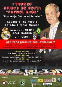 Cartel oficial del trofeo de fútbol base 'Homenaje al doctor Abdelkrim'