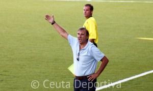 José Antonio Asián, durante el partido de esta tarde ante el Betis B