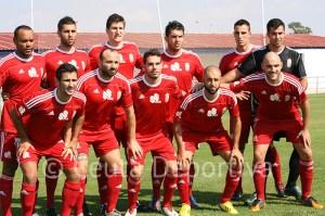 'Once' que presentó José Antonio Asián en Huelva, donde la AD Ceuta FC derrotó al Recre B por 2-4