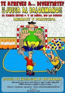 Cartel de la campaña de captación de jugadores del BM. Ramón y Cajal