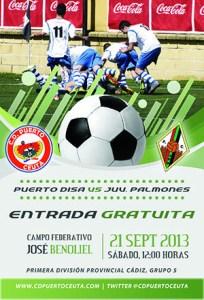 Cartel del primer partido del CD Puerto en la 1ª Provincial de Cádiz