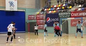 Una imagen del Ceutí FS - CD El Ejido FS de la pasada temporada