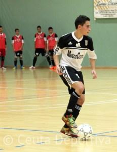 Chito es uno de los 'jóvenes veteranos' de la UA Ceutí FS