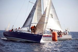 Un momento de la regata celebrada en aguas de la Bahía Norte de Ceuta