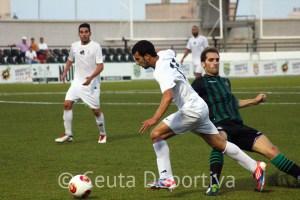 Ismael, uno de los siete jugadores de la AD Ceuta FC de Tercera División, que está citado este martes en el Murube