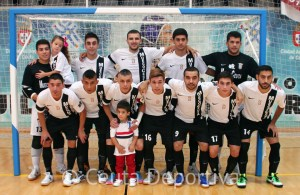 Formación de la UA Ceutí FS antes del partido de esta temporada ante el Real Betis FSN
