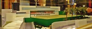 Maqueta de la nueva sede de la Federación de Fútbol de Ceuta en Las Carmelitas