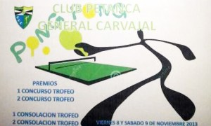 Cartel anunciador del torneo de tenis de mesa del CP Carvajal