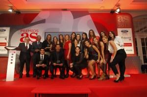 Los galardonados posaron al final de la Gala de los Premios AS del Deporte