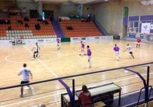 Imagen del partido disputado esta tarde en el pabellón La Salobreja de Jaén
