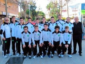 la selección de Ceuta sub-19, entre cuyos integrantes no está Juan Mora, ausente por enfermedad
