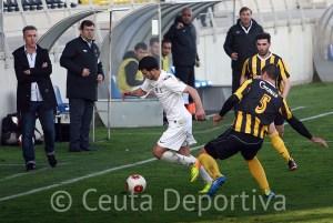 El Ceuta arrancó un punto de oro del Ciudad de Lepe el pasado fin de semana. Foto: Huelva Información