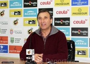 El entrenador del Ceuta no cree que la derrota en Coria del Río deje secuelas