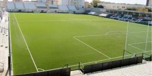 Imagen del estadio Alfonso Murube desde uno de sus fondos