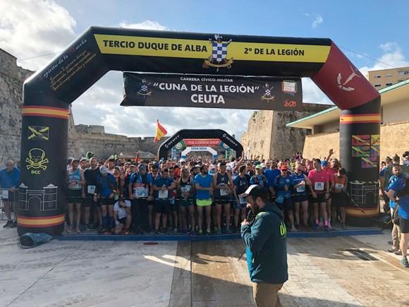 La Cuna de la Legión se ha convertido, con diferencia, en la prueba deportiva más multitudinaria de Ceuta