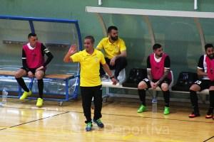 Rachid, en su etapa como entrenador de la UA Ceutí, al que ascendió a Segunda División Masculina